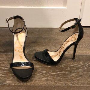 Sam Edelman black Toe-strap heel